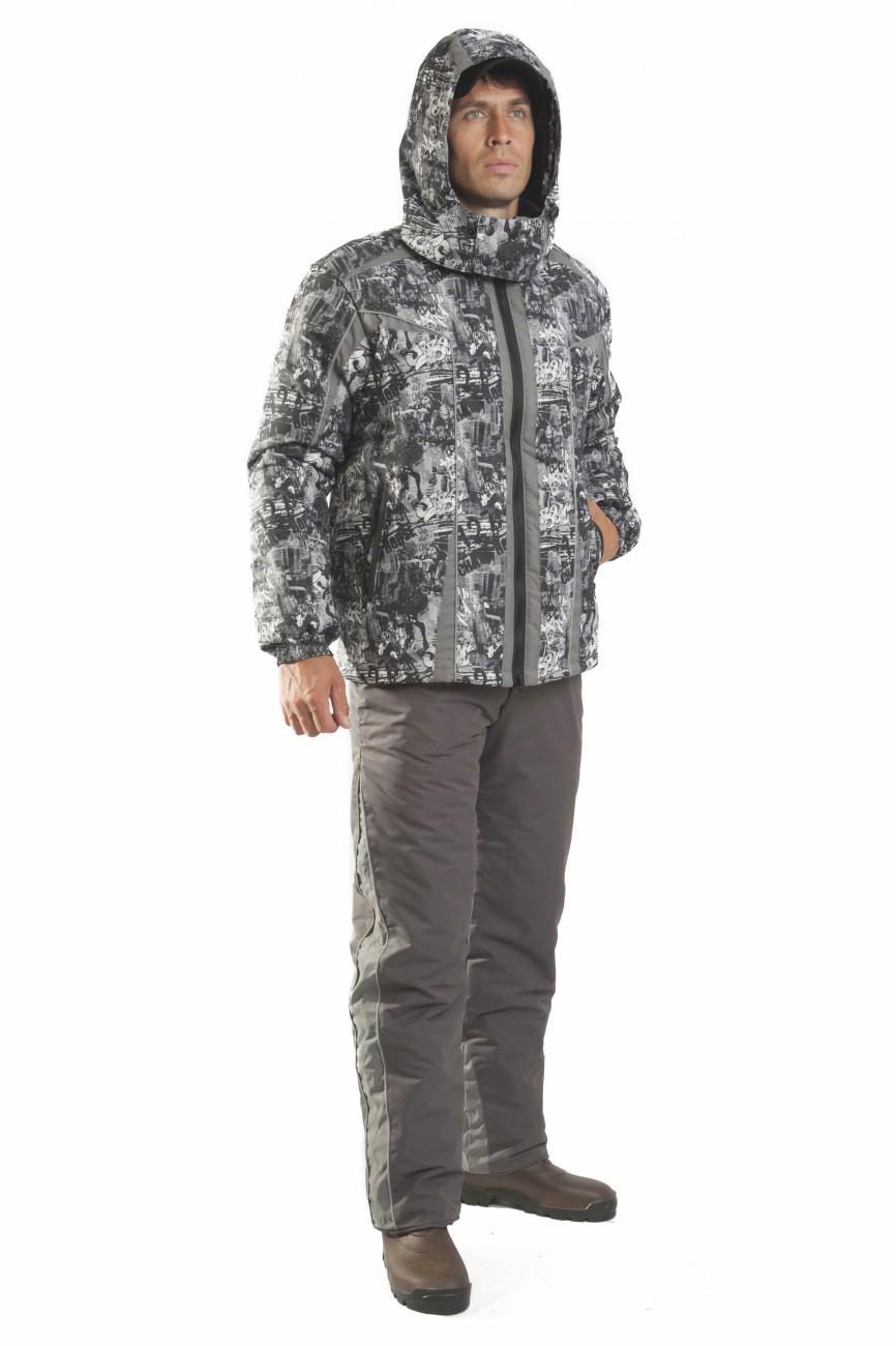 КостюмКуртки<br>Универсальный костюм, который подойдёт как для активного отдыха на природе, так и для городских условий. Верх костюма изготовлен из современной мембранной ткани, прекрасно противостоящей дождю и ветру. Брюки с расширенным поясом на спинке, трансформируются в полукомбинезон с эластичными бретелями.  Куртка свободный крой центральная застежка молния с ветрозащитным клапаном внутренняя круговая ветрозащитная деталь на эластичной ленте с застежкой кнопки воротник стойка отстегивающийся капюшон с регулировкой объема рукава на манжете с эластичной лентой два прорезных боковых кармана на застежке молния два внутренних кармана  Брюки прямые застежка гульфик на молнии пояс притачной расширенный на спинке шлевки два боковых кармана пристегивающиеся эластичные бретели для надежной фиксации на уровне линии талии  В изделии использованы цвета: серый и др.  Ростовка изделия до размеров 44-46 176 см. Ростовка изделия с размеров 48-50 182 см.<br><br>По сезону: Осень,Весна<br>Размер : 44-46,48-50,52-54,56-58,60-62<br>Материал: Плащевая ткань<br>Количество в наличии: 7