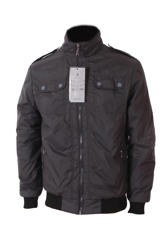 КурткаКуртки<br>Мужская демисезонная куртка защитит Вас от непогоды.  Цвет: серый<br><br>По сезону: Осень,Весна<br>Размер : 46<br>Материал: Полиэстер<br>Количество в наличии: 1