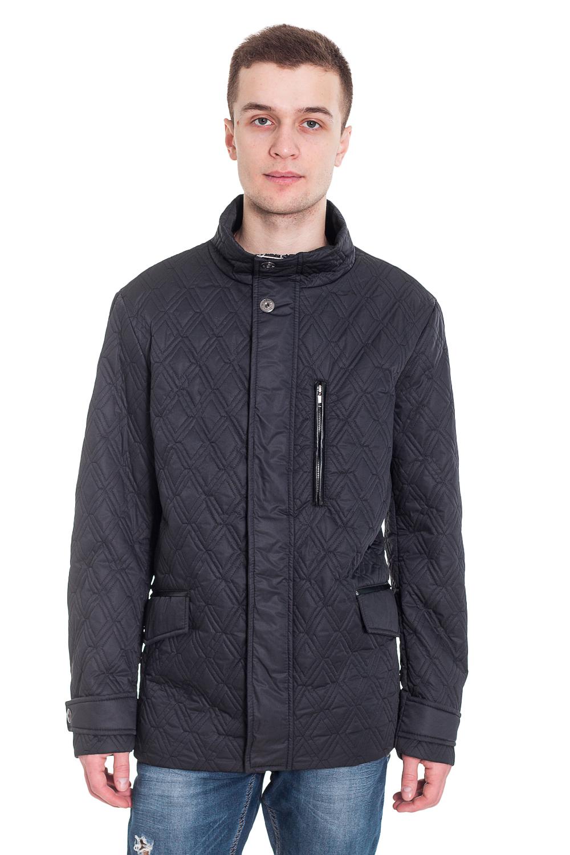 КурткаКуртки<br>Мужская куртка, воротник стойка, центральная молния, на полочках карманы. Утеплитель синтепон.   Цвет: синий  Рост мужчины-фотомодели 182 см<br><br>По сезону: Осень,Весна<br>Размер: 50<br>Материал: 100% полиэстер<br>Количество в наличии: 1