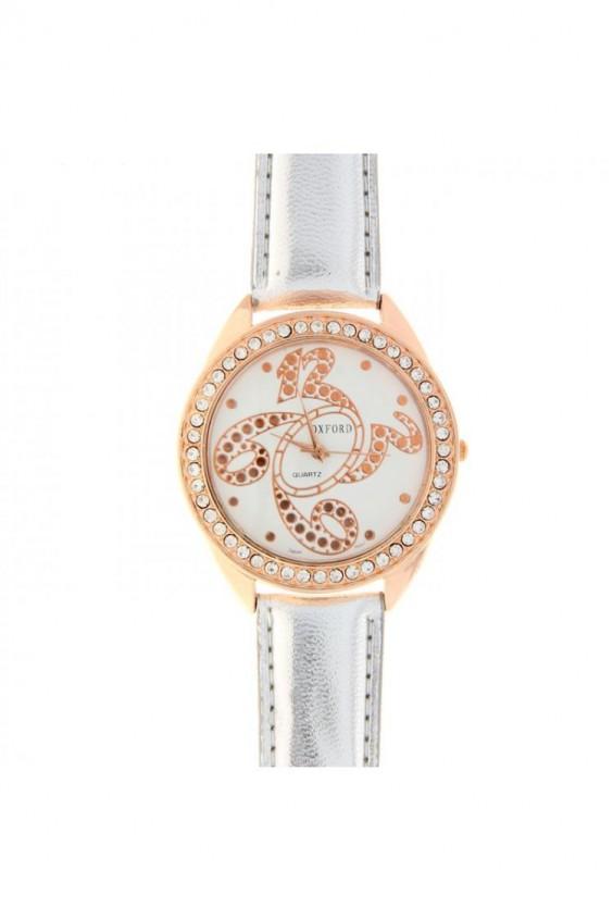 Купить Часы SL1078138 Часы наручные женские. . . Часы наручные женские Oxford, золотистый корпус со стразами, белый
