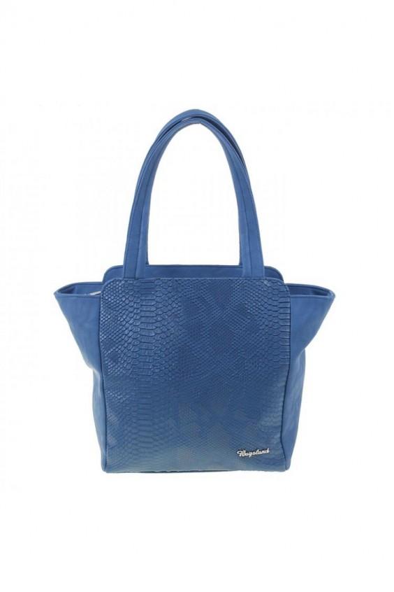 Женская сумка Саломея 412 мульти крокодил синий
