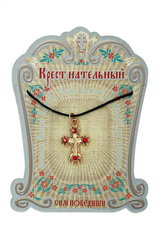 Нательный крест золотистый Российское швейное производство LacyWear 53.000