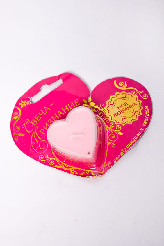 Свеча-сюрприз сердце Российское швейное производство LacyWear 42.000