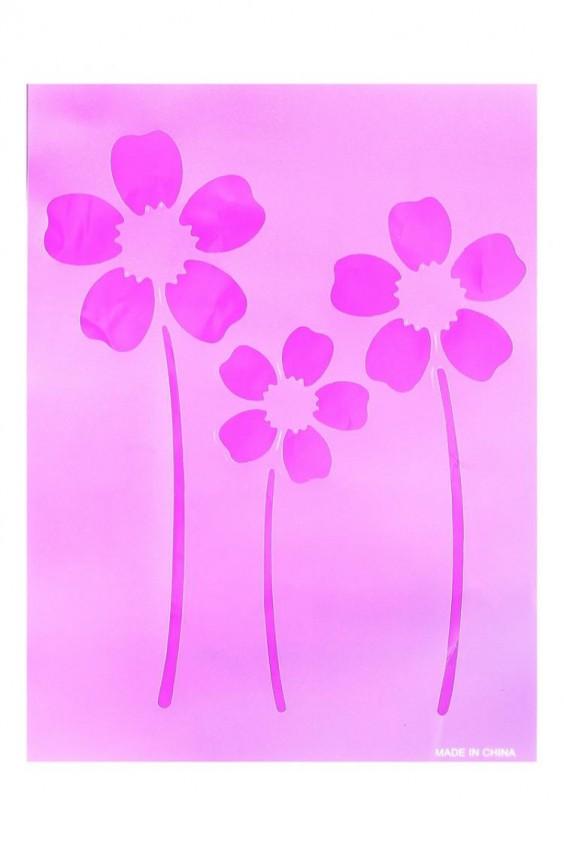 Трафареты на стены цветы